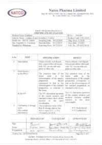 Сертификат качества Natco Pharma Limited №7