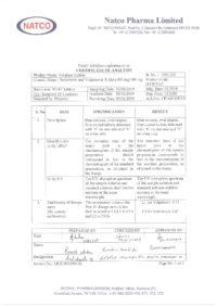 Сертификат качества Natco Pharma Limited №13