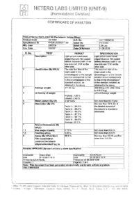 Сертификат качества Hetero Labs Limited №5