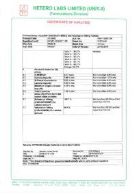 Сертификат качества Hetero Labs Limited №12