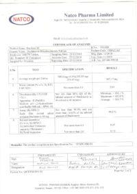 Сертификат качества Natco Pharma Limited №4