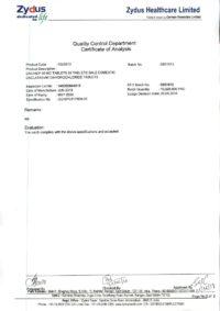Сертификат качества Zydus Healthcare Limited №4